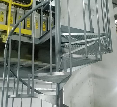 Gmdi Fabrication et Montage des escaliers métalliques hélicoïdal