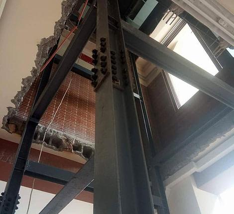 Gmdi Fabrication et montage d'une ossature métallique pour ascenseur