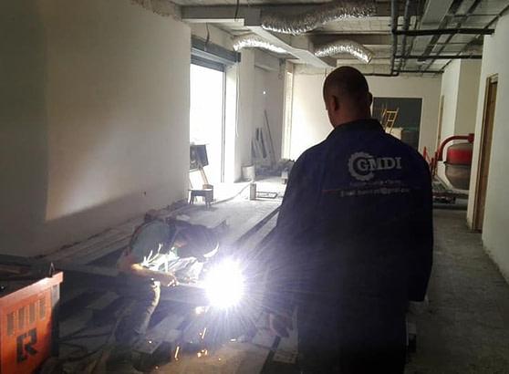 Gmdi Fabrication et montage ossature métallique ascenseur